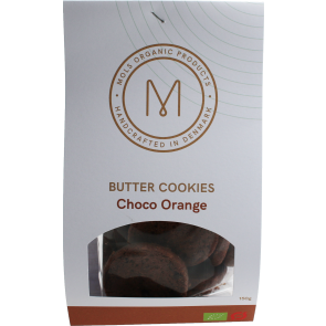 Organic Danish butter cookies Choco & Orange